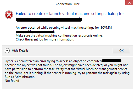 VM Issue FCM Settings