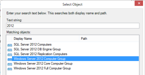 SCOM Hyper-V 2008 2012 Group Selection