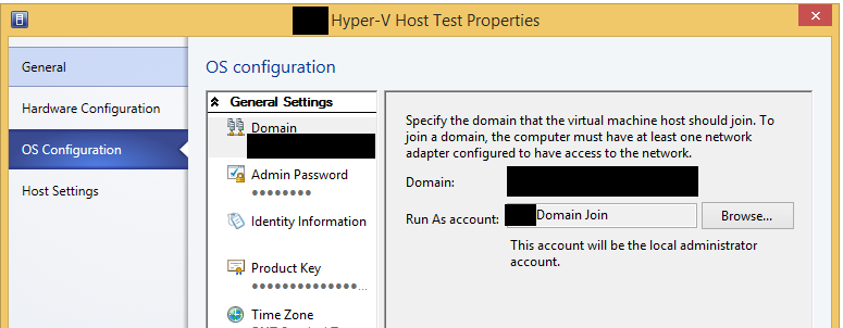 VMM Bare Metal Deploy Host Profile